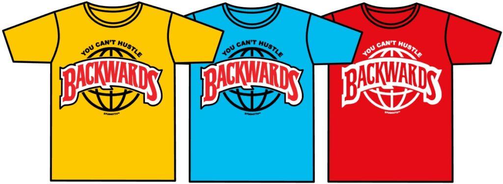 three custom printed t-shirts mockup